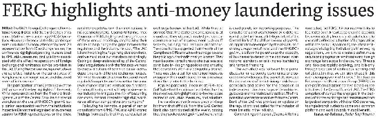 FERG Highlights Anti-money Laundering issues