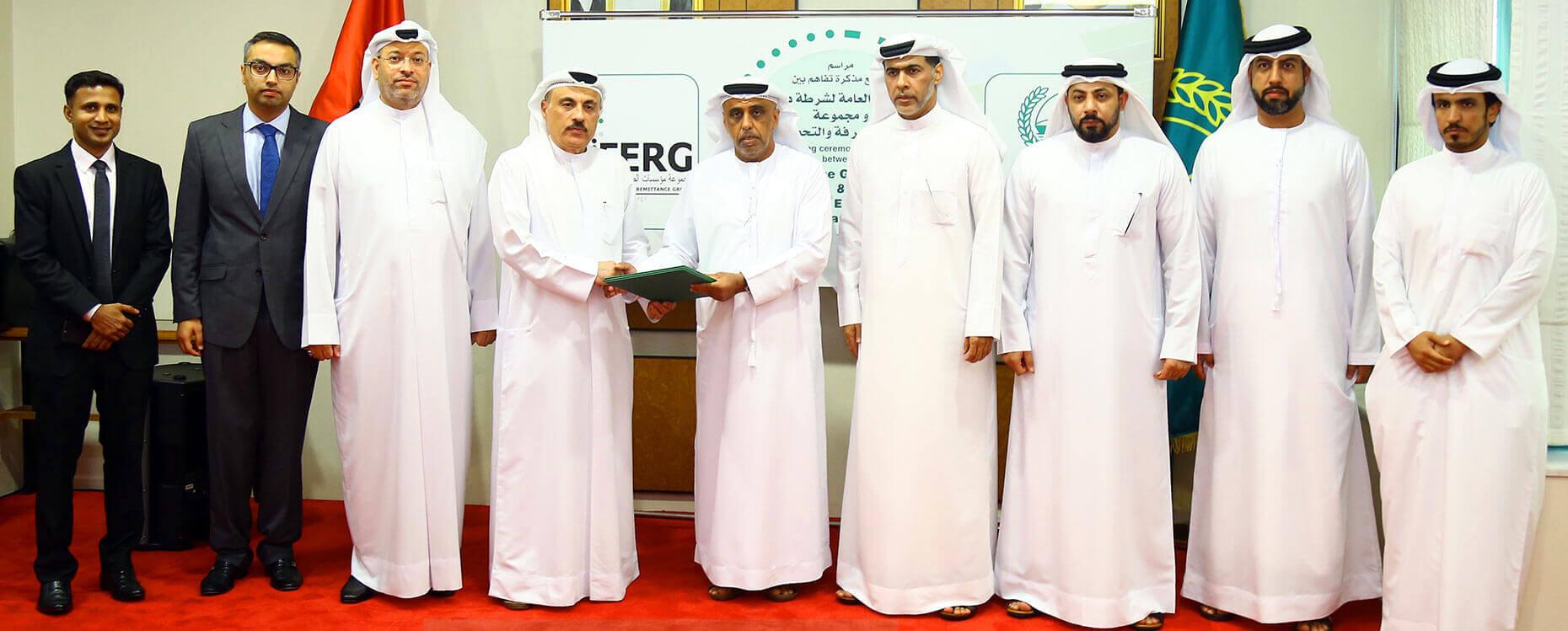 FERG signing ceremony with Dubai Police
